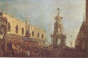 Francesco Guardi The Doge Takes Part in the Festivities in the Piazzetta on Shrove Tuesday (mk05) oil painting picture wholesale