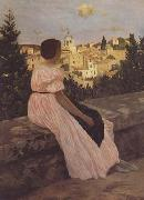 Frederic Bazille The Pink Dress (mk06) oil painting picture wholesale