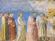 GIOTTO di Bondone The Marriage Procession of the Virgin (mk08) oil painting picture wholesale