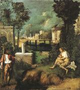 Giorgione La Tempesta (mk08) oil painting picture wholesale