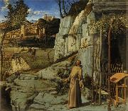 Giovanni Bellini St Francis in the Wilderness (mk08) oil painting picture wholesale