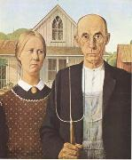 Grant Wood Anerican Gothic (mk09) oil painting picture wholesale