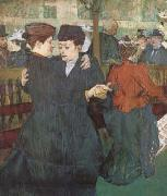 Henri de toulouse-lautrec Two Women Dancing at the Moulin Rouge (mk09) oil painting picture wholesale