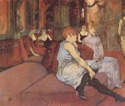 Henri de toulouse-lautrec Interior in the Rue des Moulins (mk09) oil painting picture wholesale