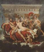 Jacques-Louis David Mars disarmed by venus and the three graces (mk02) oil painting picture wholesale