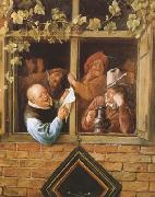 Jan Steen Rhetoricians at a Window (mk08) oil painting picture wholesale