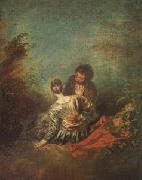 Jean-Antoine Watteau Le Faux Pas(The Mistaken Advance) (mk05) oil painting picture wholesale