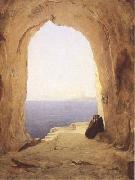 Karl Blechen Monks at the Gulf of Naples (mk09) oil painting artist