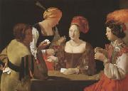 LA TOUR, Georges de The Cheat with the Ace of Diamonds (mk05) oil painting picture wholesale