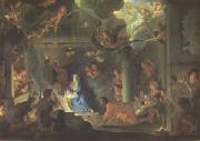 LE BRUN, Charles The Adoration of the Shepherds (mk05) oil painting picture wholesale