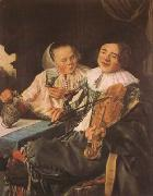 LEYSTER, Judith Carousing Couple (mk08) oil painting picture wholesale