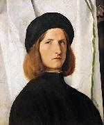 Lorenzo Lotto Portrait of a Young Man (mk08) oil painting picture wholesale