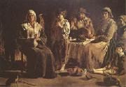Louis Le Nain Peasant Family in an Interior (mk05) oil painting picture wholesale