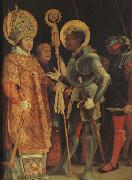 Matthias  Grunewald The Meeting of St Erasmus and St Maurice (mk08) oil painting picture wholesale