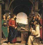 PERUGINO, Pietro The Vision of St Bernard (mk08) oil painting picture wholesale
