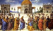 PERUGINO, Pietro Christ giving thw Keys to St Peter (mk08) oil painting picture wholesale