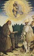 PISANELLO The Virgin and Child with the Saints George and Anthony Abbot (mk08) oil painting artist