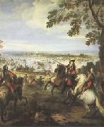 Parrocel, Joseph Crossing of the Rhine by the Army of Louis XIV on 12 June (mk05) oil painting artist