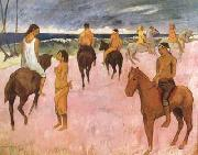 Paul Gauguin Riders on the Beach (mk07) oil painting picture wholesale