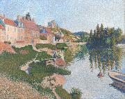 Paul Signac Riverbank,Petit-Andely (mk09) oil painting picture wholesale