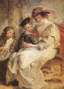 Peter Paul Rubens Helene Fourment and Her Children,Claire-Jeanne and Francois (mk05 ) oil painting picture wholesale