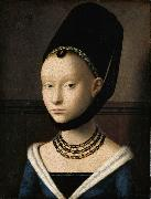 Petrus Christus Portrait of a Lady (mk08) oil painting picture wholesale