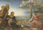 Philipp Otto Runge Rest on the Flight into Egypt (mk09) oil painting picture wholesale