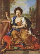 Pierre Mignard Girl Bloing Soap Bubbles (mk08) oil painting artist