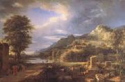 Pierre de Valenciennes The Ancient Town of Agrigentum A Composite Landscape (mk05) oil painting picture wholesale