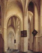 Pieter Jansz Saenredam Church Interior in Utreche (mk08) oil