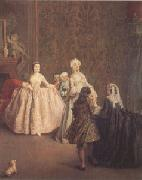 Pietro Longhi The Introduction (mk05) oil painting artist