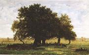 Theodore Rousseau Oak Trees near Apremont (mk09) oil painting reproduction