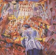 Umberto Boccioni The Noise of the Street Enters the House (mk09) oil painting picture wholesale