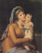 VIGEE-LEBRUN, Elisabeth Countess A S Stroganova and Her Son (san 05) oil painting picture wholesale