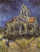 Vincent Van Gogh The Church at Auvers-sur-Oise (mk09) oil painting picture wholesale
