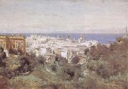 camille corot View of Genoa (mk09) oil painting picture wholesale