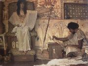 Alma-Tadema, Sir Lawrence Joseph,Overseer of Pharaoh's Granaries (mk23) oil painting picture wholesale