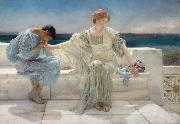 Alma-Tadema, Sir Lawrence Ask Me No More (mk23) oil painting picture wholesale