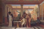 Alma-Tadema, Sir Lawrence Gustave Boulanger,The Rehearsal in the House of the Tragic Poet (mk23) oil