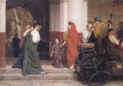Alma-Tadema, Sir Lawrence Entrance to a Roman Theatre (mk23) oil