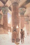 Alma-Tadema, Sir Lawrence Cleopatra at the Temple of Isis at Philae (mk23) oil painting picture wholesale