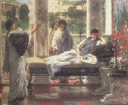 Alma-Tadema, Sir Lawrence Catullus Reading his  Poems at Lesbia's House (mk23) oil