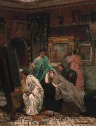Alma-Tadema, Sir Lawrence The Collector of Pictures in the Time of Augustus (mk23) oil painting picture wholesale