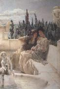 Alma-Tadema, Sir Lawrence Whispering Noon (mk23) oil painting picture wholesale