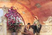 Alma-Tadema, Sir Lawrence Unconscious Rivals (mk23) oil painting picture wholesale