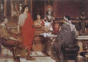 Alma-Tadema, Sir Lawrence Catullus at Lesbia's (mk23) oil