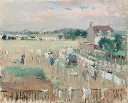 Berthe Morisot Hanging the Laundry out to Dry (nn02) oil