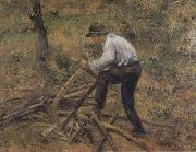 Camille Pissarro Pere Melon Sawing Wood,Pontoise (nn02) oil painting picture wholesale