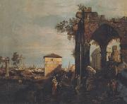 Canaletto Paesaggio con rovine (mk21) oil painting reproduction