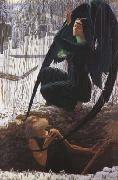 Carlos Schwabe The Grave-Digger's Death (mk19) oil painting picture wholesale